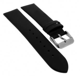 Bruno Banani Ersatzband Leder schwarz glatt flach Schließe silberfarben CD1259