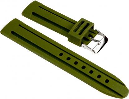Minott Uhrenarmband Silikon Band Olive glatt 25540S