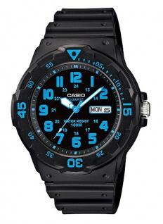 Casio Collection Herrenuhr Armbanduhr Analog Quarz Uhr mit Resinband schwarz/Blau MRW-200H-2BVEF