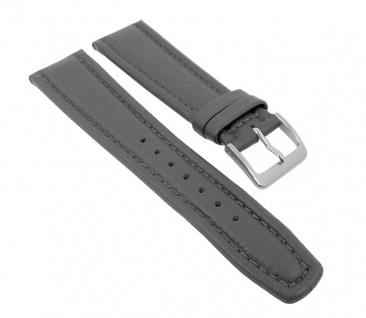Graf Manufaktur Montana Uhrenarmband Walknappa Band XL Länge Grau 26342S
