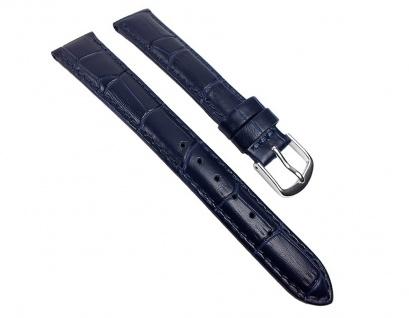Guinea XL Uhrenarmband Kalbsleder Band Blau 22143S