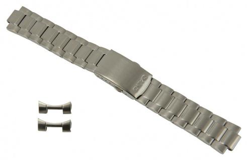 Casio Edifice Uhrenarmband Edelstahl Band silberfarben für EF-503D EF-503SPP 10171206