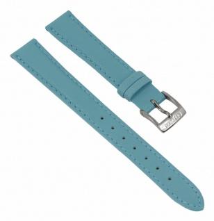 Citizen Uhrenarmband Leder Band blau 14mm für 4-S078946 - 28513