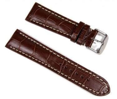 Swiss Chrono II Uhrenarmband Leder 24mm 645024S