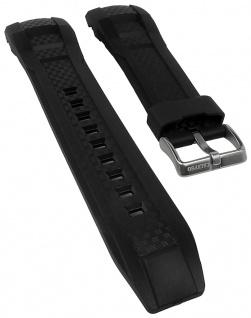 Calypso Watches Uhrenarmband Ersatzband Kunststoff Band glatt schwarz für Modell K5691