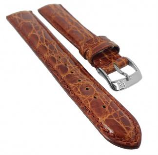 Morellato Uhrenarmband 18mm passend zu Locman - Ersatzband echt Alligatorleder, Braun 29482