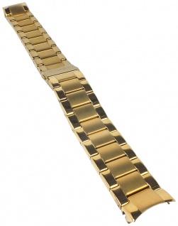 Timex | Ersatzband Uhrenarmband Edelstahl Band matt/glänzend gelbgoldfarben TW2P66900 TW2P66800 TW2P70000