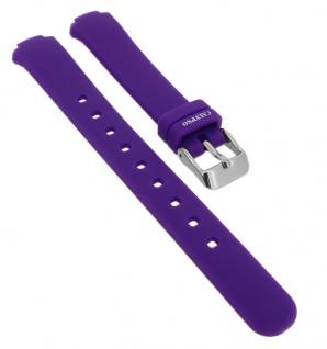 Calypso Ersatzband aus Silikon in lila mit Schließe silberfarben Spezial Anstoß => K6069/4