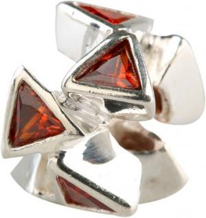 Charlot Borgen Marken Damen Bead Beads Drops Silber mit Zirkonia SCZ-22-Rot