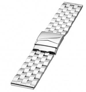 Minott Uhrenarmband Edelstahl Band - Massiv mit Sicherheitsfaltschließe 24319