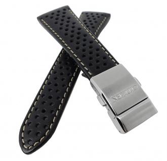 Citizen Uhrenarmband schwarz Leder mit Lochmuster 23mm AS4020-36E - Vorschau 3