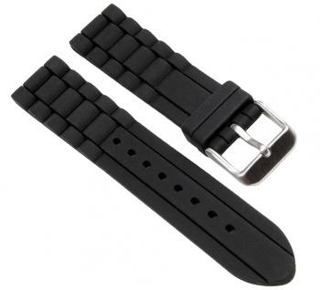 Minott Uhrenarmband Silikon Band schwarz 20mm 19643