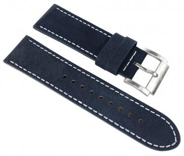 Adora Nautic Multianalog Ersatzband 24mm blaues Lederband Band AN2095 AN2094