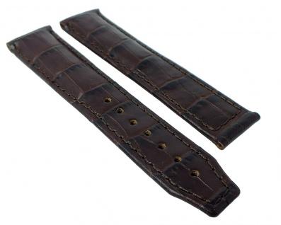 Maurice Lacroix Pontos XL Louisiana Kroko-Optik Ersatzband Leder ohne Emblem braun 2/934