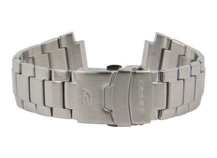 Casio Edifice Ersatzband Uhrenarmband Edelstahl Band Silberfarben für EF-564D 10379790