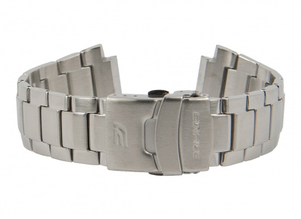 Casio Edifice Uhrenarmband Edelstahl Band Silberfarben für EF-564D 10379790