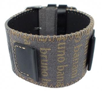Bruno Banani Unterlageband mehrfarbig Leder/Textil mit Ziernaht BR25879 BR25877