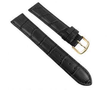 Uhrenarmband Guinea Ersatzband Kalbsleder Band Schwarz 10mm - 22mm 30057