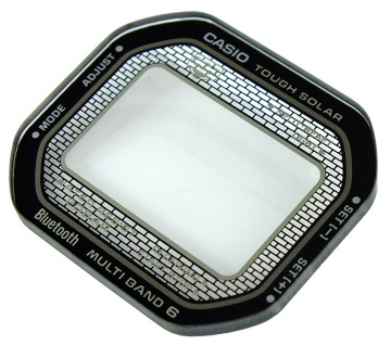 Casio Uhrenglas Mineralglas rund Glas Ersatzglas flach mit Aufdruck GMW-B5000