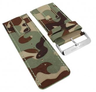 Bruno Banani Proteus Ersatzband 38mm camouflage Leder XP3 960 360 BR20820 BR20823 BR20821