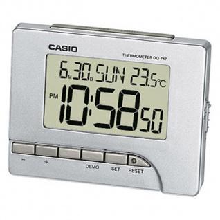 Casio Digital Wecker mit Thermometer Silberfarben DQ-747-8EF