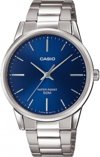 Casio Collection Analoguhr mit Edelstahlband in silbern MTP-1303PD-2FVEF