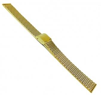 Timex Ersatzband Uhrenarmband Edelstahl gelbgoldfarben 14mm mit verstellbarem Verschluss für T2P304