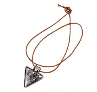 Minott Kette braunes Leder zum verknoten mit Anhänger Dreieck