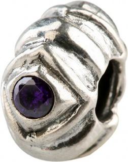 Charlot Borgen Marken Damen Bead Beads Drops Silber mit Zirkonia SCZ-06-Lila