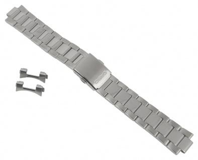 Casio Collection Uhrenarmband Edelstahl Band Silberfarben für MTP-1372D 10447376