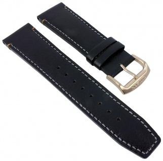 Citizen Funk | Uhrenarmband Leder Band 22mm schwarz mit Kontrastnaht für AT8126-02E