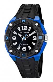Calypso Armbanduhr Herrenuhr Analoguhr schwarz/Blau Beleuchtung 10 ATM K5634/3