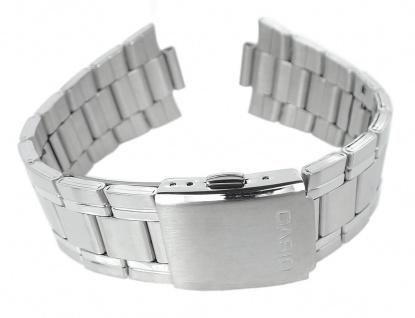 Casio Armband | Uhrenarmband Edelstahl Band Silberfarben für MTP-1300