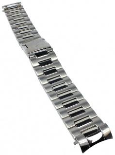 Timex Uhrenarmband Ersatzband Edelstahl silbern 20mm für T2N153