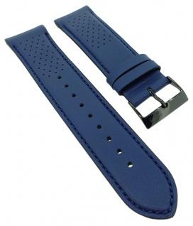 Hugo Boss Grand Prix Ersatzband 22mm blau Leder Band Lochmuster 1513563