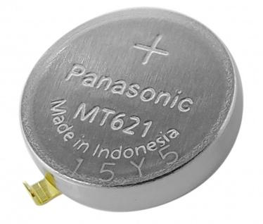 Panasonic Knopfzelle Akku Batterie MT621 Lithium Ionen (LiIon) mit Fähnchen 34241