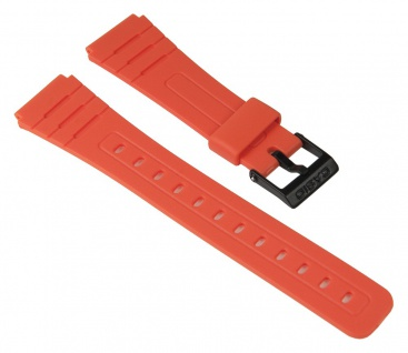 Casio Uhrenarmband Resin Band Orange für F-91WC 10361904
