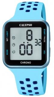 Calypso Armbanduhr digital Quarzuhr Kunststoffuhr mit Alarm Stoppfunktion Timer digital K5748/3