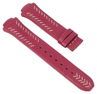 Lotus Uhrenarmband Leder Band pink mit rosa Naht für L15510/2 L15510