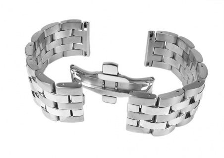 Minott Uhrenarmband Edelstahl Band - Massiv silbern 24320