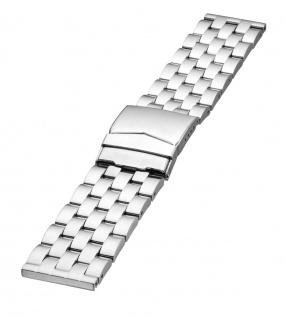 Minott Uhrenarmband Edelstahl Matt Band - Massiv 24631S