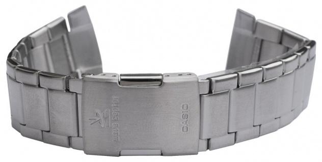 Casio Wave Ceptor Uhrenarmband Edelstahl Band Silberfarben für WVA-M640