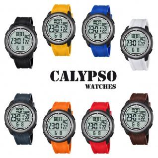 Calypso Herrenarmbanduhr Quarzuhr Kunststoffuhr mit Polyurethanband Alarm-Chronograph digital alle Modelle K5704