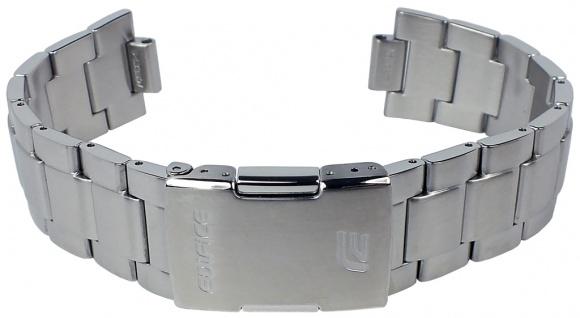 Casio Armband | Uhrenarmband Edelstahl Band Silberfarben für Edifice EQW-550D
