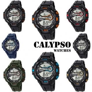 Calypso Herrenarmbanduhr Quarzuhr Digital Kunststoffuhr mit Polyurethanband Alarm-Chronograph alle Modelle K5695