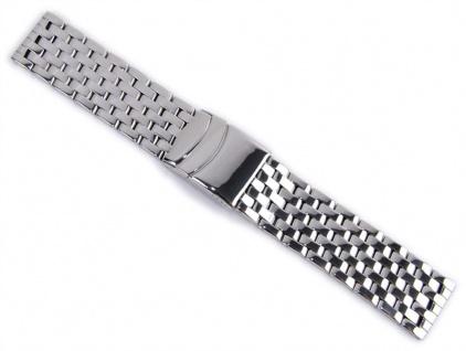 Uhrenarmband Edelstahl Band Massiv 24mm 21165