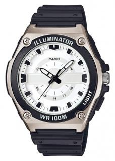 Casio Collection Digital Herrenuhr Resin schwarz MWC-100H-7AVEF mit LED Light
