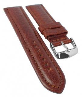 Eichmüller Schrumpfleder Ersatzband | Uhrenarmband | braun mit Wulst, genarbt 33870