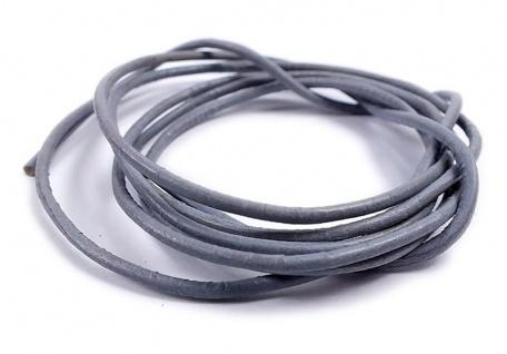 Ziegenleder Lederriemen Minott Halskette Ziegenleder Lederband 100cm Grau 22085