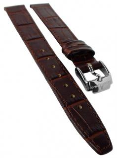 Jacques Lemans Ersatzband 14mm Uhrenarmband braun Leder Kroko - Optik 1-1612